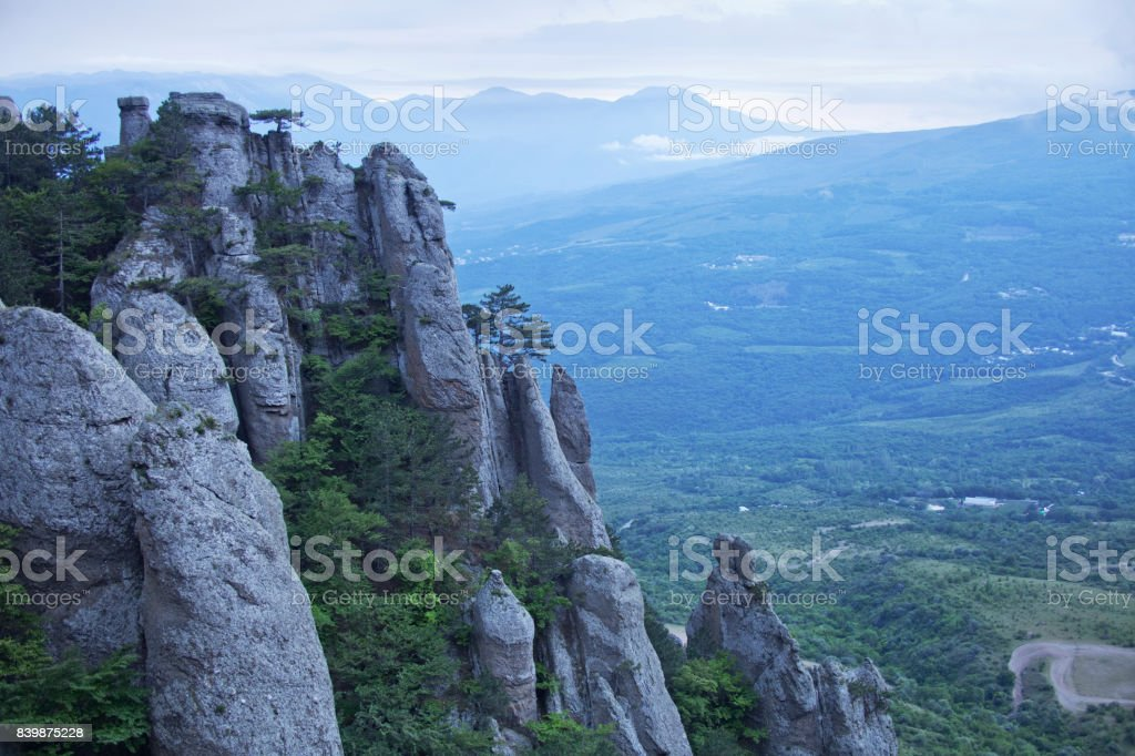 Demergi mountain view. Crimea stock photo