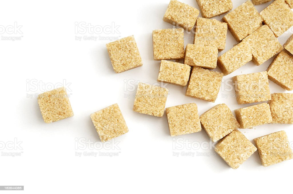 Demerra Sugar lumps scattered stock photo