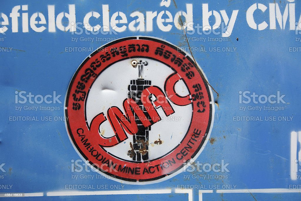 Demining action royalty-free stock photo