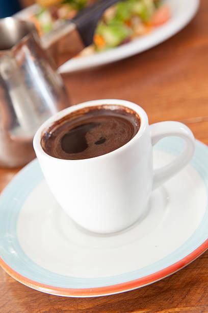 Demitasse cup of Turkish coffee stock photo