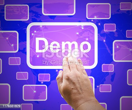 Demo icon demonstrating a product beta software. A blueprint or scale model - 3d illustration
