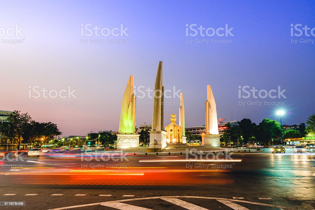 Democracy Monument, Bangkok, Thailand stock photo