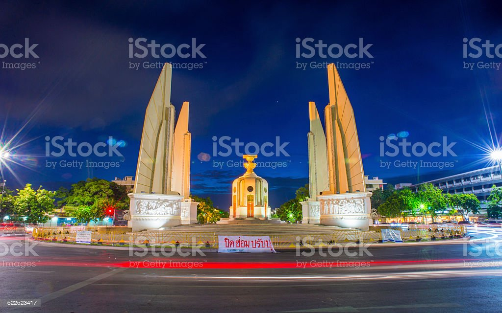 Democracy Monument In Bangkok, Thailand stock photo