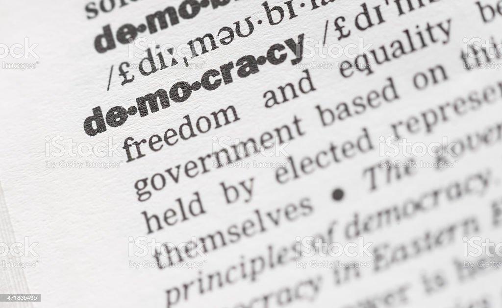 Democracy royalty-free stock photo