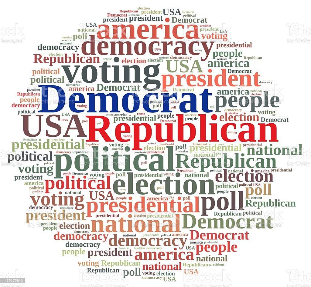 Democrat and Republic. stock photo