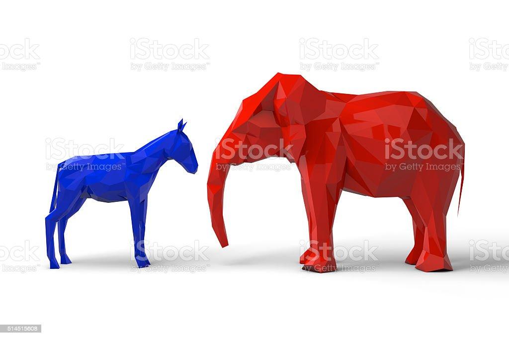Democrat And Republican Party Symbols Stock Photo Istock