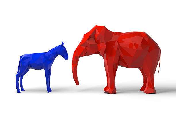 республиканская партия демократ и символы - республиканская партия сша стоковые фото и изображения