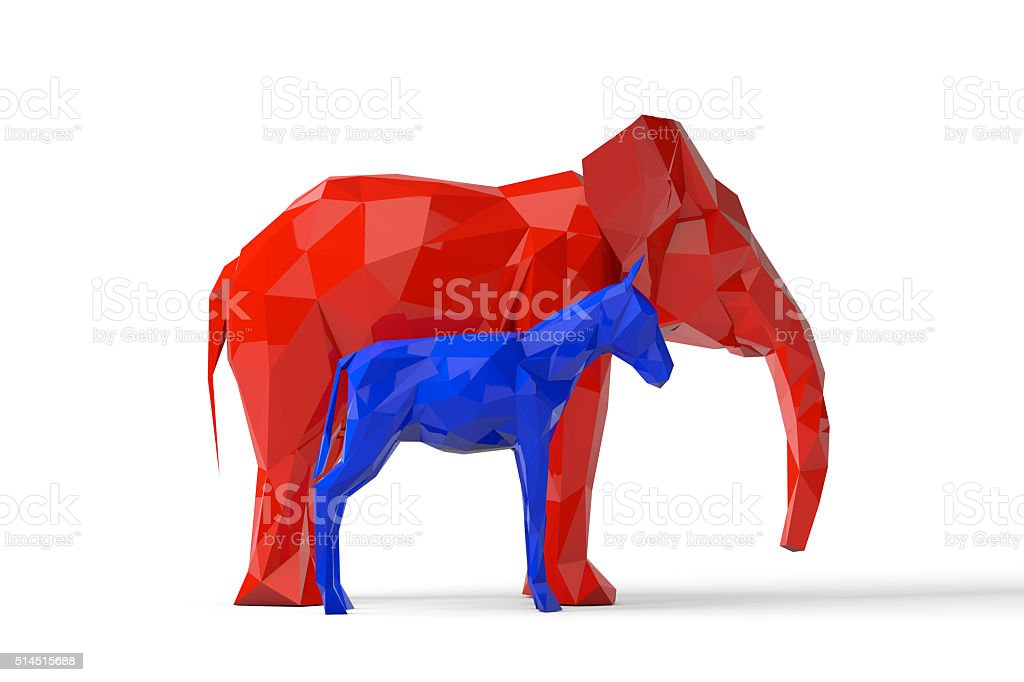 Democrat And Republican Party Symbols Stock Photo More Pictures Of