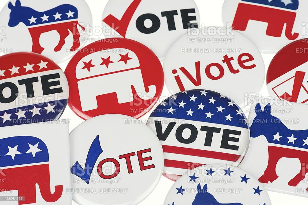 Demócratas Y Republican Votación Tarjetas Encuadre Completo Fondo ...