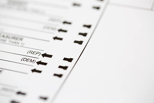 democrat or republican choice on voting ballot - ballot stock pictures, royalty-free photos & images