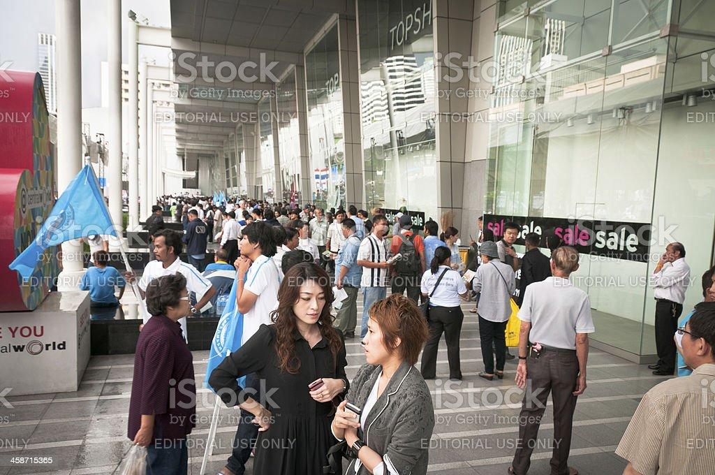 Democrat Party Political Rally In Bangkok, Thailand royalty-free stock photo