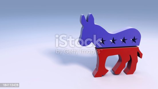 istock Democratic Donkey Symbol 184113428