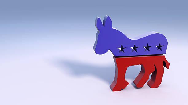 демократической donkey символ - демократия стоковые фото и изображения