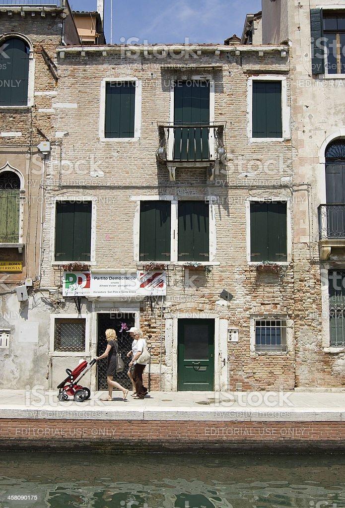 Partito Democratico HQ, Venice stock photo