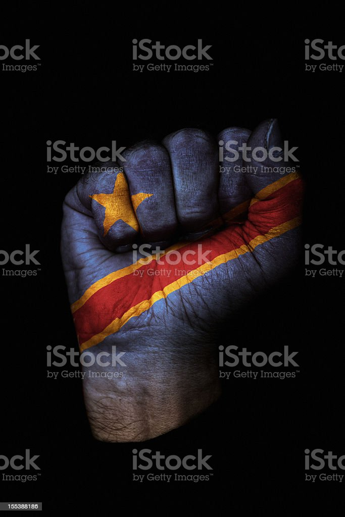 Democratic Republic of the Congo Flag Fist stock photo