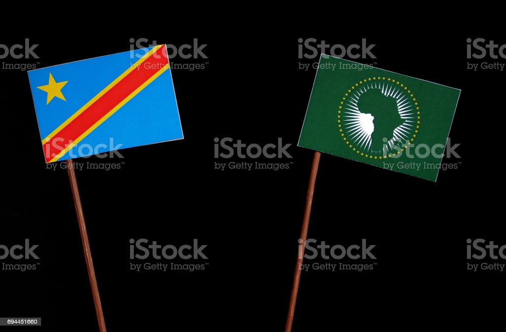 Democratic Republic Of The Congo Flag With African Union