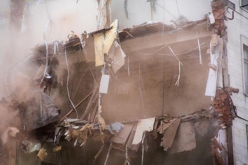 Demolished Building Floors Stock Photo - Download Image Now