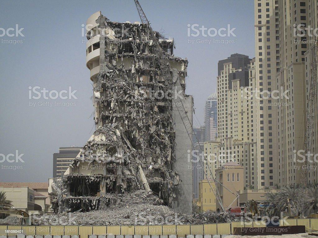 Demolished Building in Dubai, United Arab Emirates stock photo