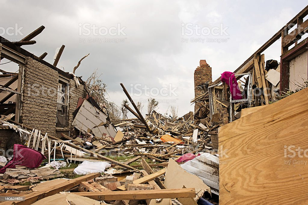 Demolished by Tornado royalty-free stock photo