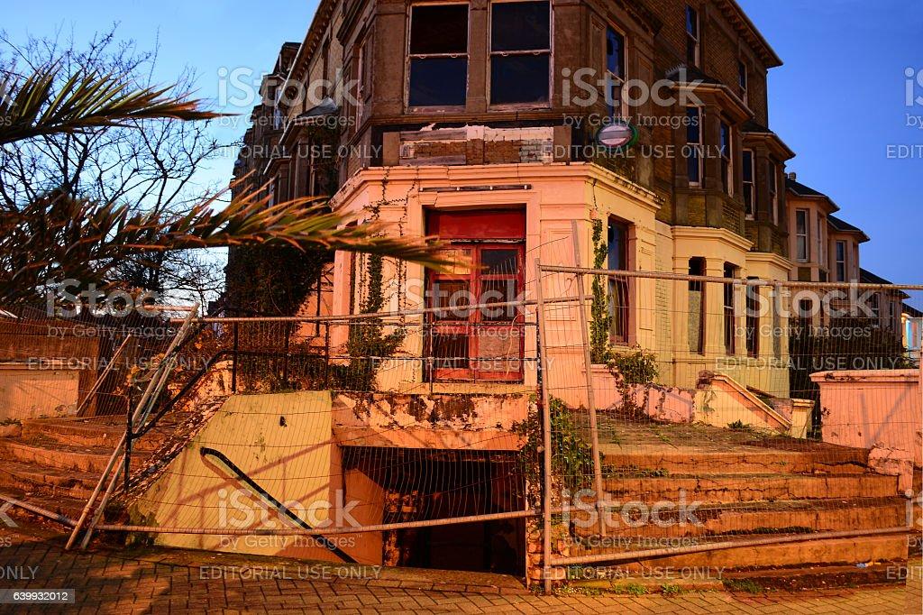 Demolished Old Building stock photo