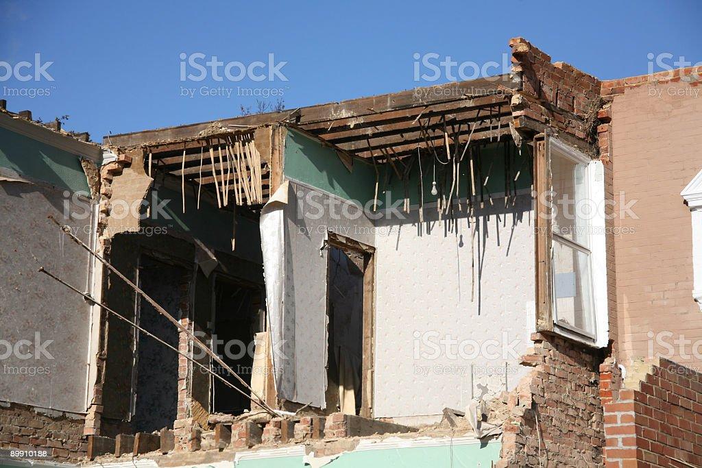 Demolished stock photo