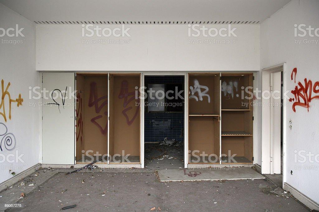 demolished room stock photo