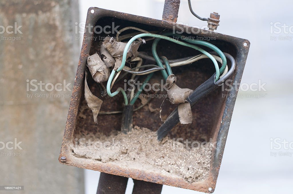 Demolished switchboard royalty-free stock photo
