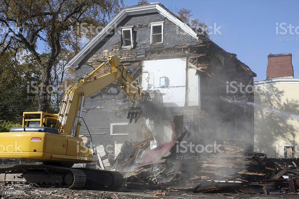 Demolishing An Old House Series royalty-free stock photo