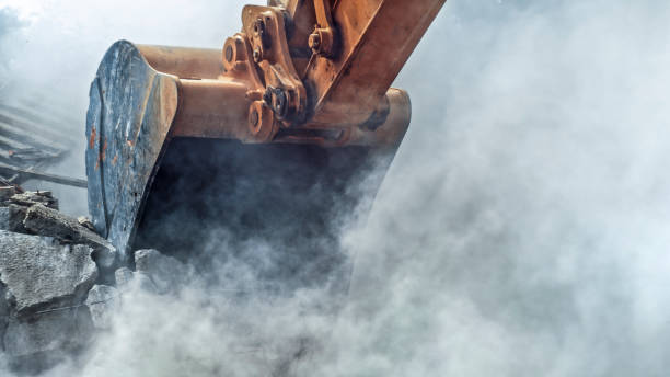 rivning av byggnad - excavator bildbanksfoton och bilder