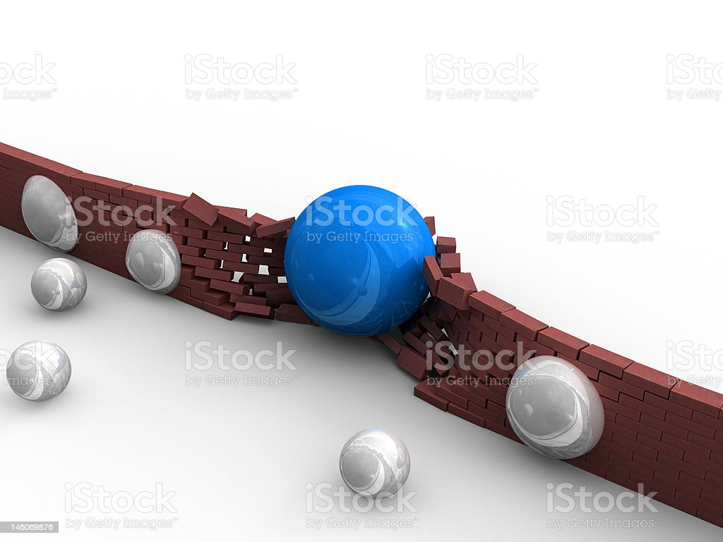 Demolishing of obstacles royalty-free stock photo
