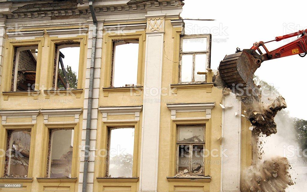 demolition 4 royalty-free stock photo