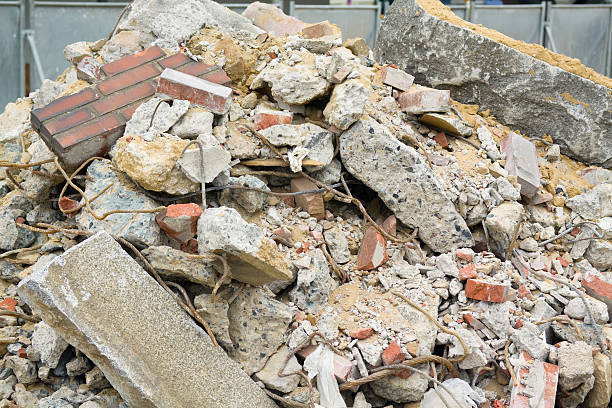Demolition and construction rubble Demolition and construction rubble and waste. abridgment stock pictures, royalty-free photos & images