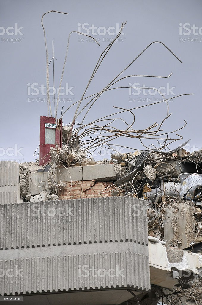 Demolition and Fire exit royalty-free stock photo