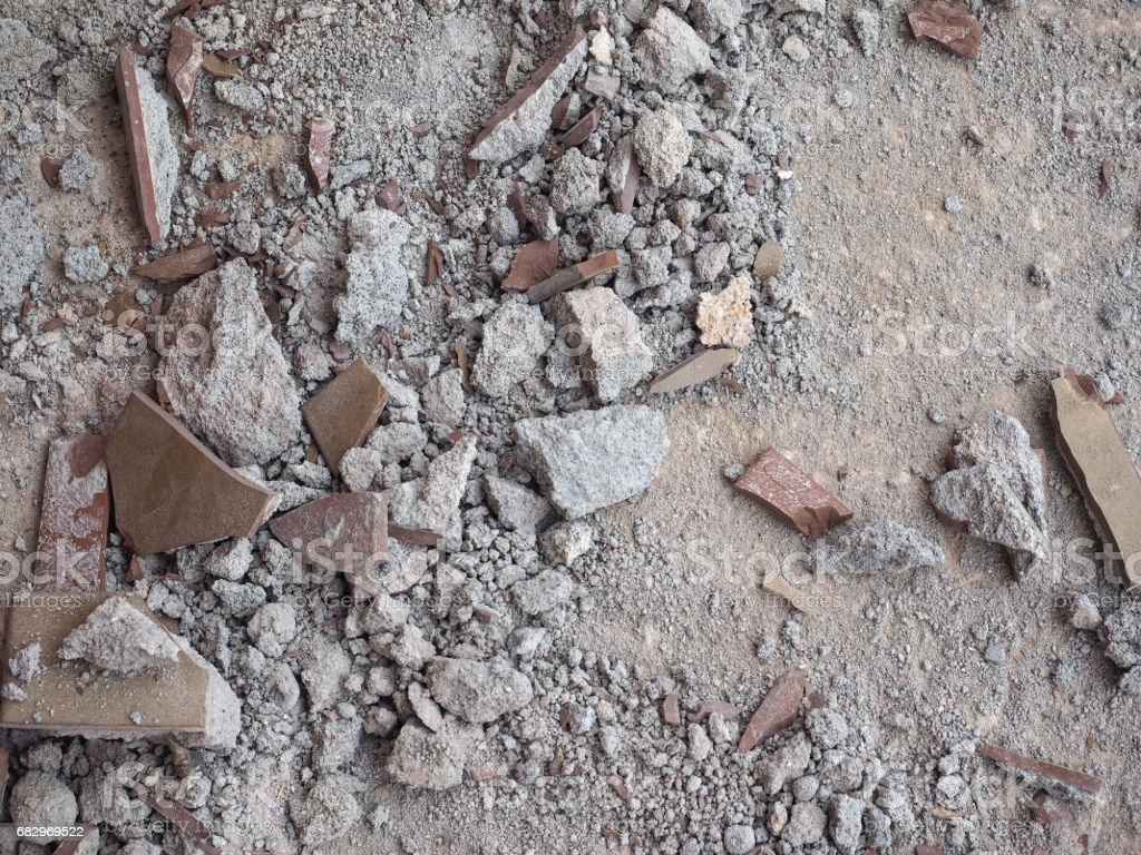Demolition and refurbishment stock photo