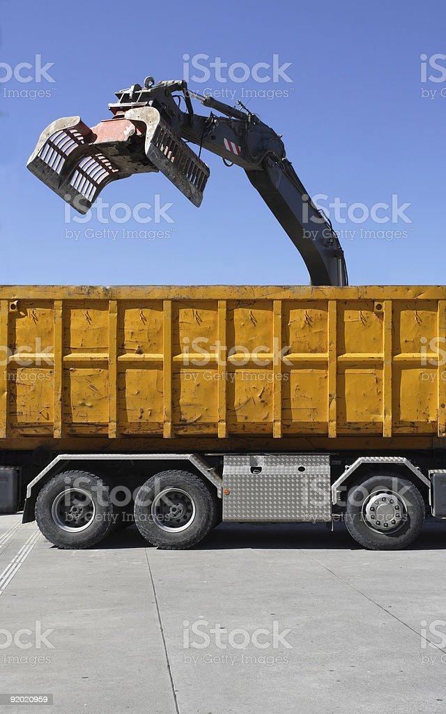 Demolition claw stock photo