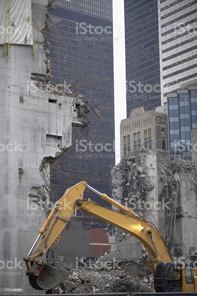 Demolition, construction royalty-free stock photo