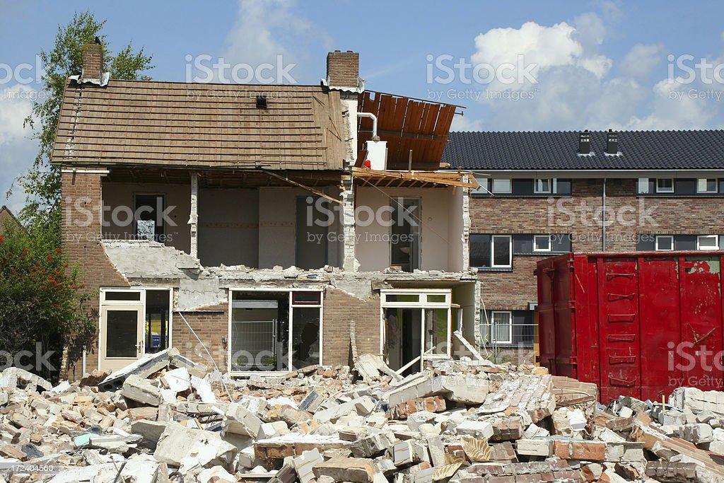Demolition house # 1 royalty-free stock photo