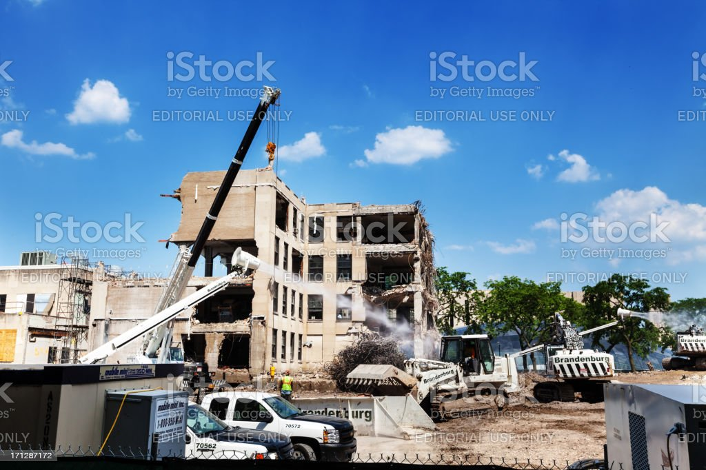 Demolition in Chicago royalty-free stock photo