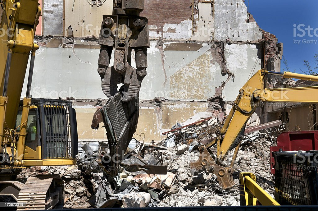 Demolition in the City royalty-free stock photo