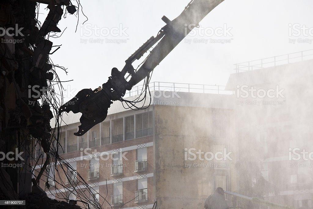 Demolition Machine stock photo
