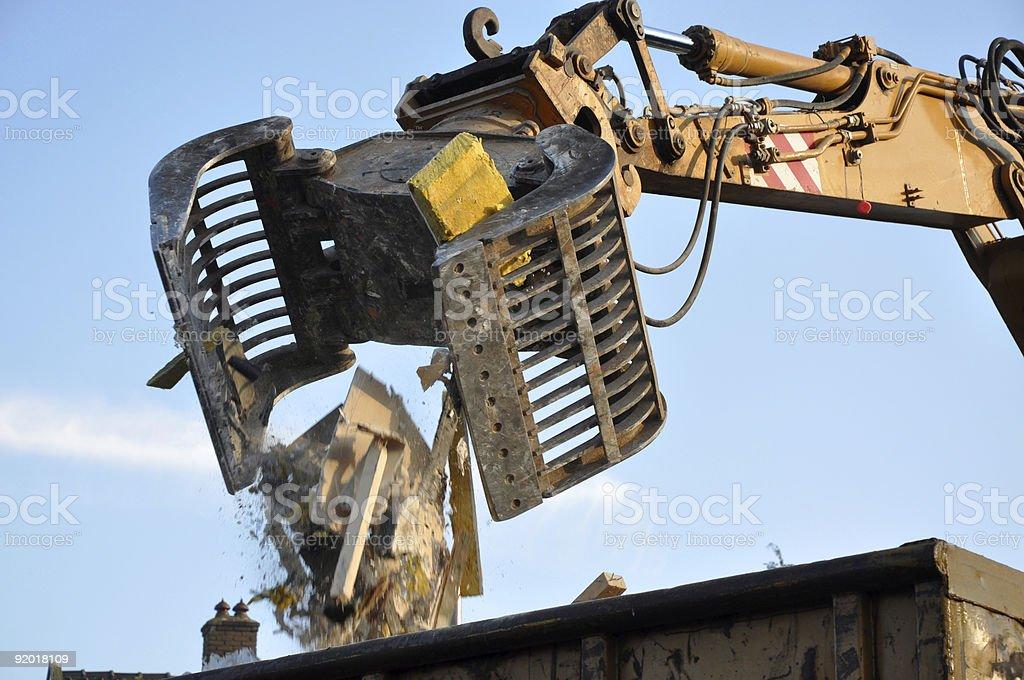 Demolition machinery stock photo