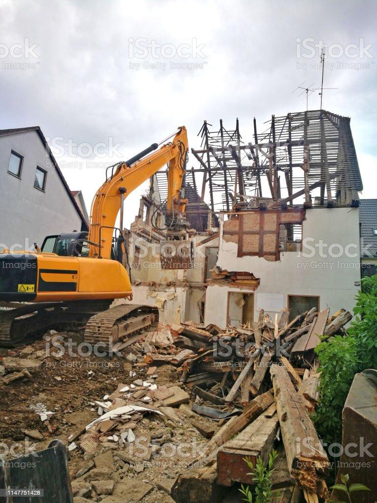 démolition d'un bâtiment photo libre de droits