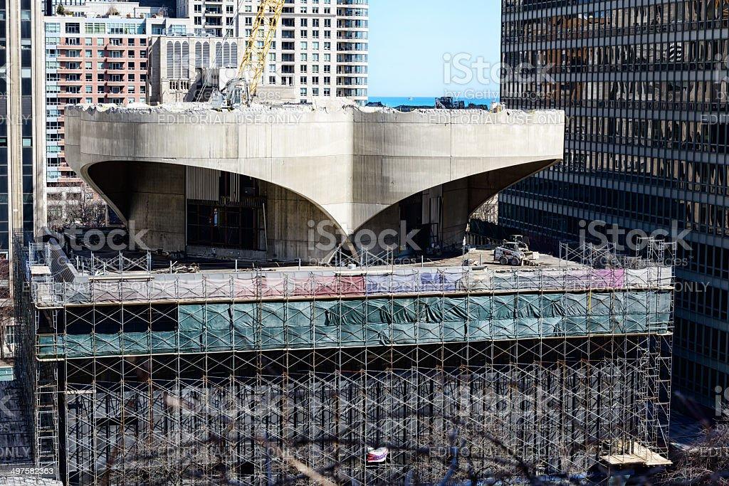 Demolition of a Chicago landmark royalty-free stock photo