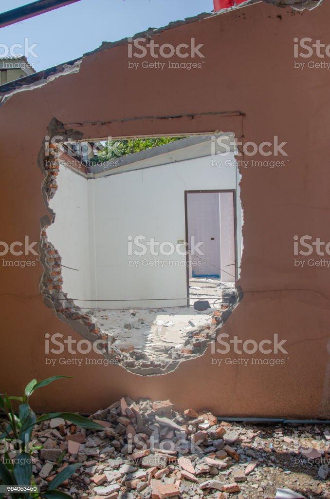 解体の建物 - コンクリートのロイヤリティフリーストックフォト