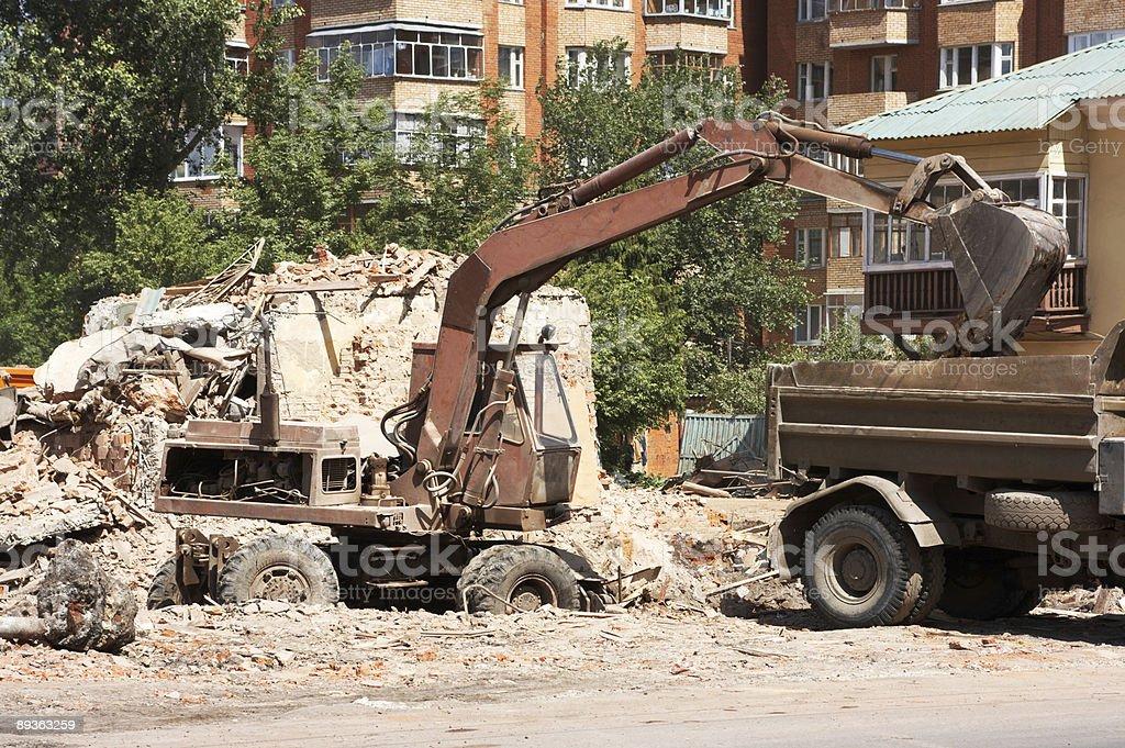 Dilapidée de démolition des abris photo libre de droits