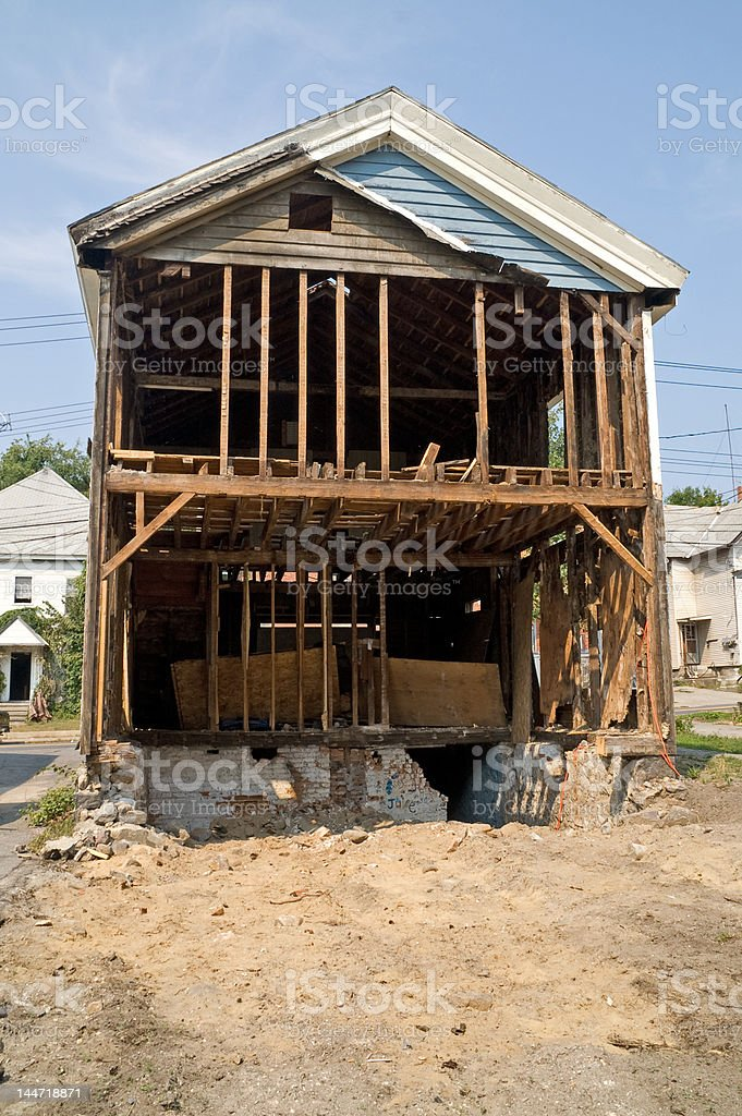 Demolition of House royalty-free stock photo
