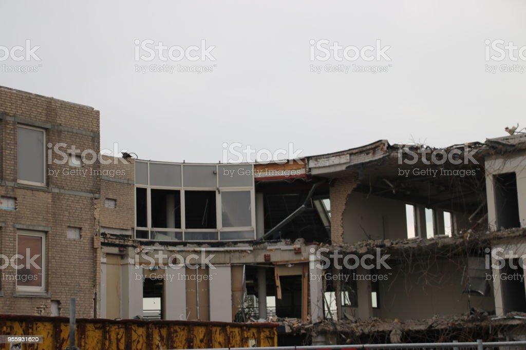 Demolition of the municipality office of Zuidplas including town hall in Nieuwerkerk aan den IJssel, the Netherlands stock photo