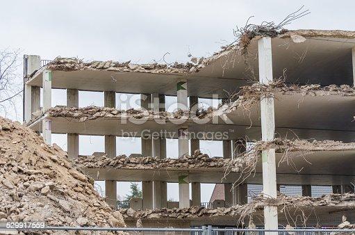istock Demolition parking garage in Velbert 529917559