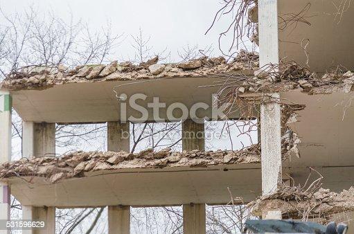 istock Demolition parking garage in Velbert 531596629