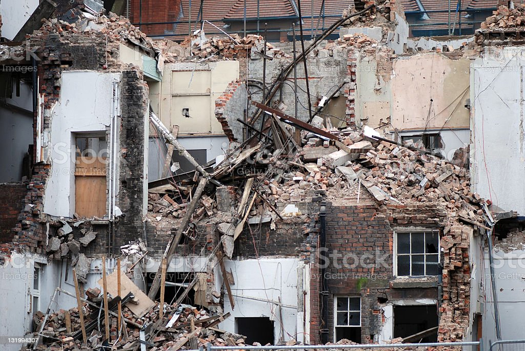 Demolition royalty-free stock photo